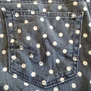Ag Adriano Goldschmied Jeans - AG Stevie Ankle Polka Dot 26R Adriano Goldschmied